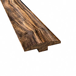 Prefinished Tobacco Road Hardwood 1/4 in thick x 2 in wide x 6.5 ft Length T-Molding