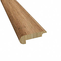 Prefinished Toffee Bamboo 1/4 in thick x 2.156 in wide x 78 in Length Stair Nose