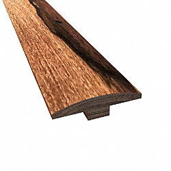 Prefinished Truffle Brazilian Pecan Hardwood 1/4 in thick x 2 in wide x 78 in Length T-Molding