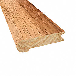 Prefinished Walnut Hickory Hardwood 3/4 in thick x 3.125 in wide x 78 in Length Stair Nose