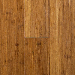 Carbonized Strand Smooth Wide Plank Engineered Click Bamboo Flooring - 35 Year Warranty