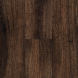 3mm Thick Mocha Oak Luxury Vinyl Plank Flooring - Peel and Stick
