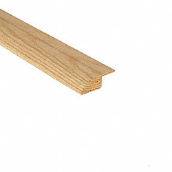 Unfinished Red Oak Hardwood 3/4 in thick x 2.5 in wide x 8 ft Length Overlap Reducer