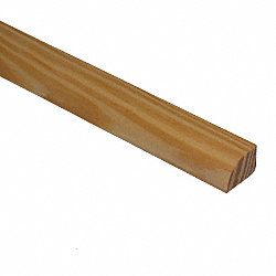 Unfinished Southern Yellow Pine Hardwood 1/2 in thick x .75 in wide x 6.5 ft Length Shoe Molding