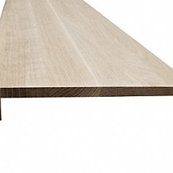 Unfinished White Oak Solid Hardwood 5/8 in thick x 11.5 in wide x 48 in Length Retro Fit Tread