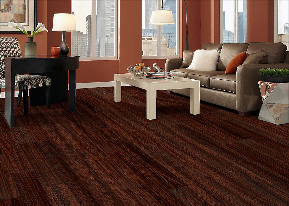 Tranquility 2mm New River Mahogany Resilient Vinyl