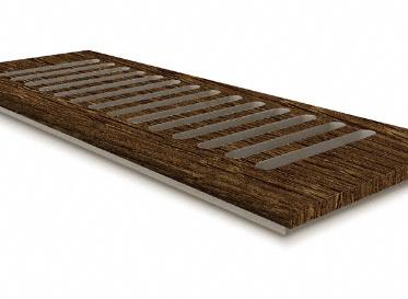 4 x 12 Clear Lake Chestnut Floor Vent Cover/Register/Drop In Grill, Lumber Liquidators