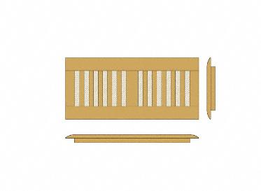 4 x 12 Unfinished Maple Floor Vent Cover/Register/Drop In Grill, Lumber Liquidators Sale $24.95 SKU: 10042709 :