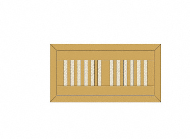 4 x 12 x 1/2 Amber City Grill Flush w/ Frame, Lumber Liquidators