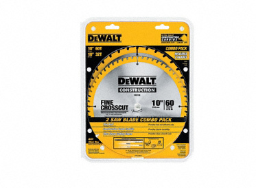 DEWALT DW3106P5 10 Saw Blade 60T/32T Combo Pack, Lumber Liquidators, Flooring Tools