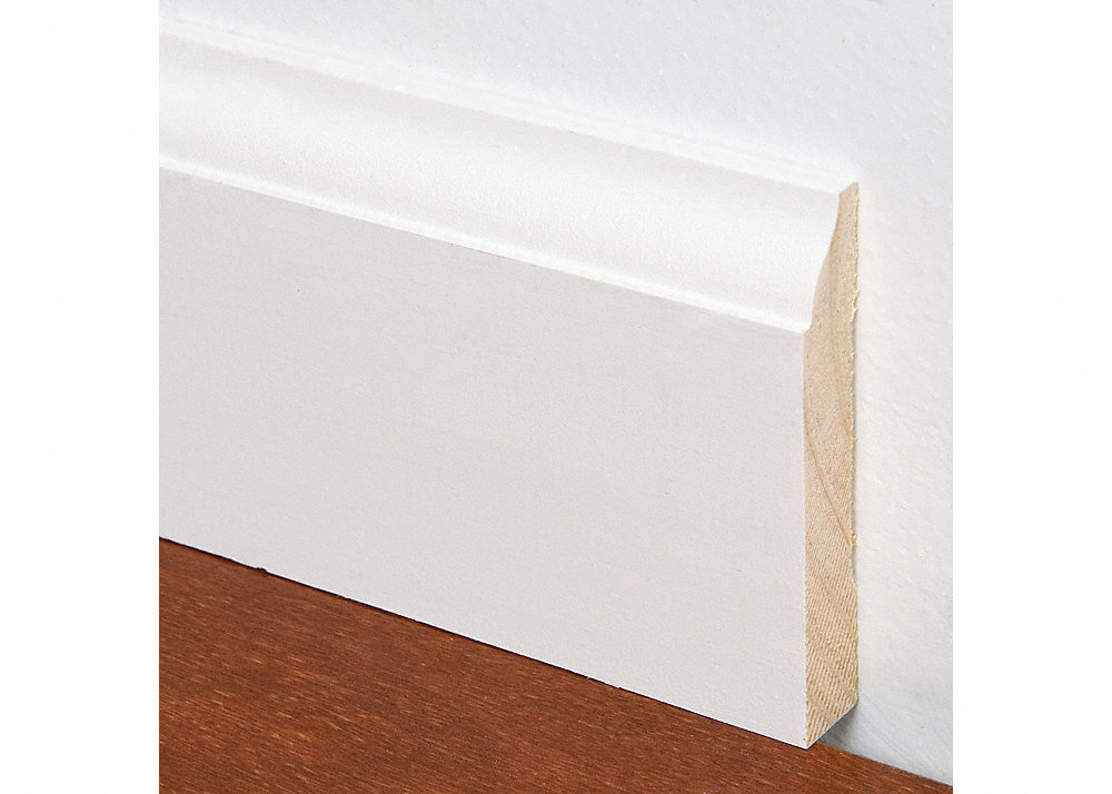 9 16 x 3 1 4 x 12 39 pfj white colonial baseboard for Cost to paint baseboard