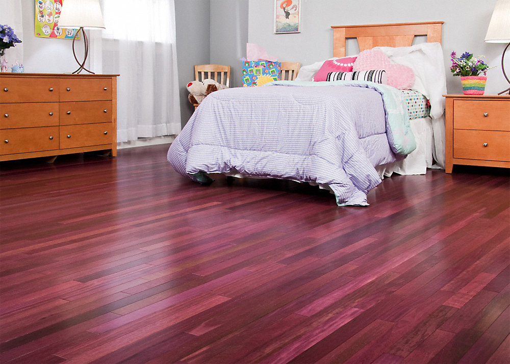 3 4 x 5 select purple heart bellawood lumber liquidators for Purple heart flooring