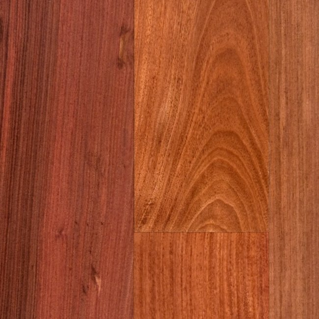 Bellawood 3 4 x 5 santos mahogany lumber liquidators for Hardwood flooring prefinished vs unfinished