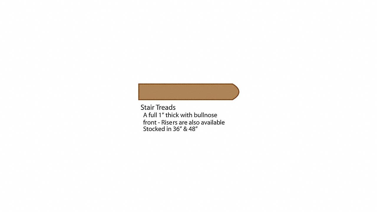 """48"""" Red Oak Tread"""