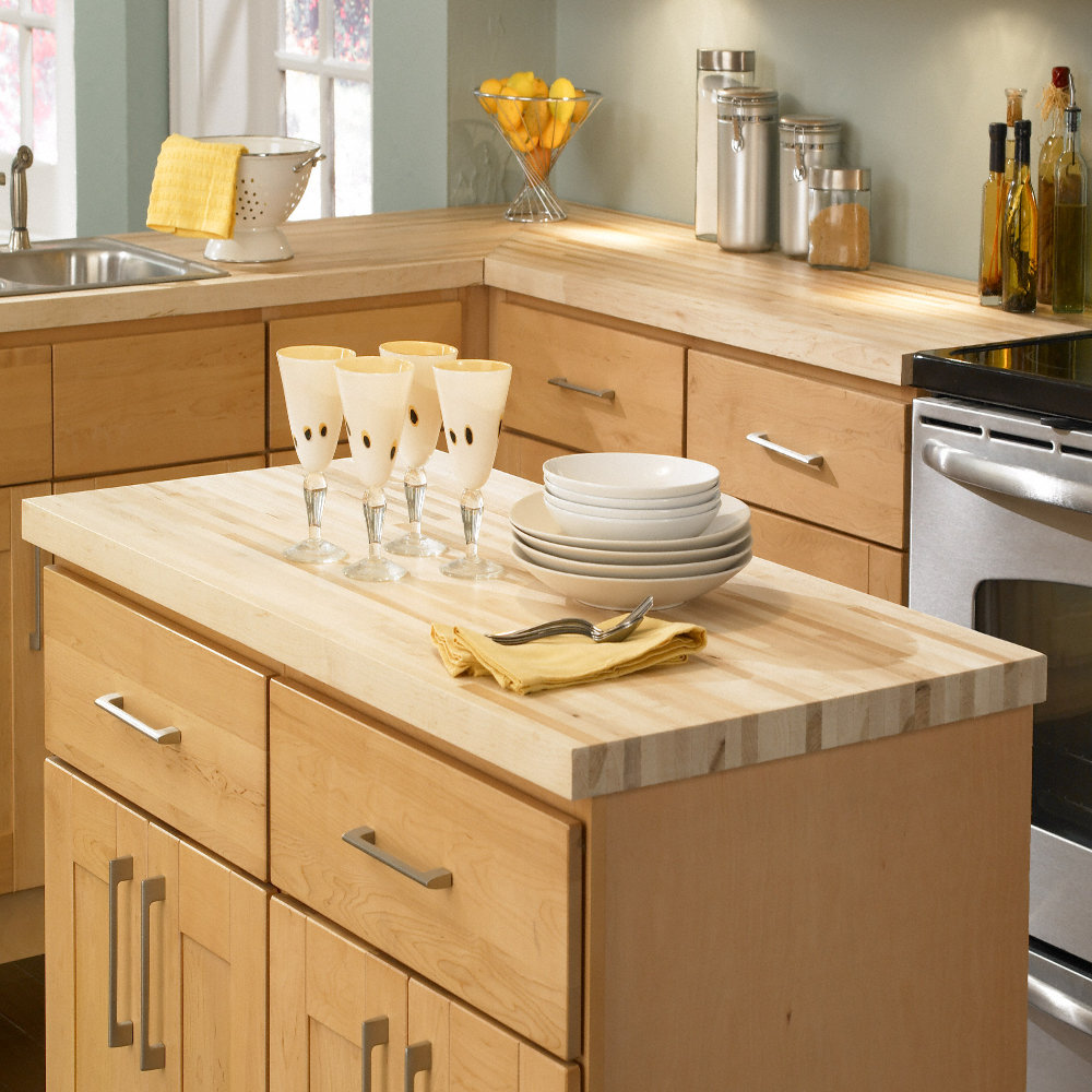 "Kitchen Islands Add Beauty Function And Value To The: 1 1/2""x 25"" X12 Lft Maple Butcher Block Countertop"