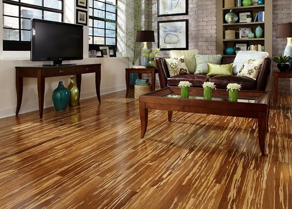 5 8 x 3 3 4 tiger strand bamboo morning star lumber for Lumber liquidators decking