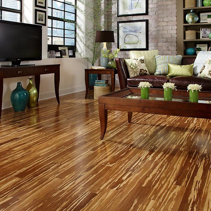 Morning Star 5 8 X 3 3 4 Tiger Strand Bamboo Lumber Liquidators Flooring Co