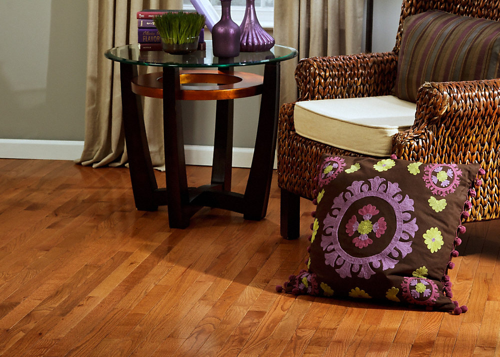 oak flooring floors red stain prefinished com gunstock hardwood stonewoodproducts product