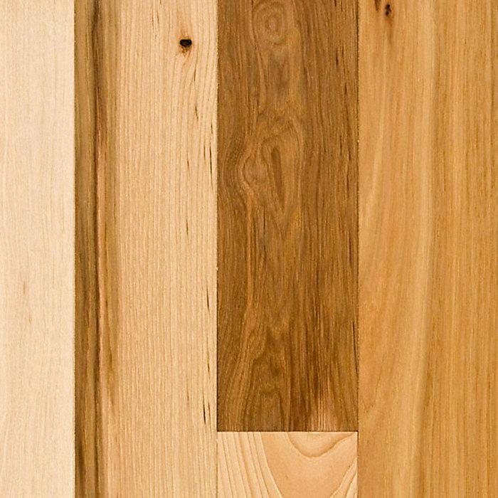 3 4 x 3 1 4 natural hickory builder 39 s pride lumber for Bellawood prefinished hardwood flooring