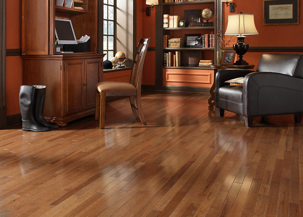 3 4 x 2 1 4 walnut hickory builder 39 s pride lumber for Casa classica collection laminate flooring
