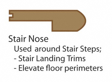 Prefinished Arezzo Hickory Stair Nose