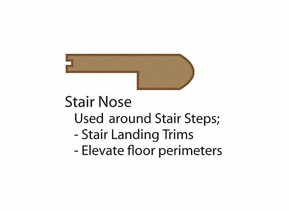 7.5u0027 Pewter Oak Flush Stair Nose